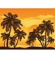Palm Tree at Sunset4 vector image