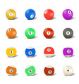 set of balls for playing pool vector image