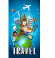 Travel famous monument of the world vector image