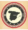 Vintage label-sticker cards of Spain vector image