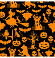 hall pattern black vector image