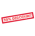 30 percent discount rubber stamp vector image