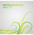 Abstract green lines vector image vector image