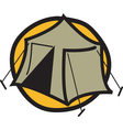 Camping tent logo vector image