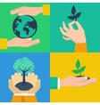 set of ecology concepts vector image