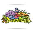 Thanksgiving logo vector image vector image
