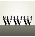 business people web concept vector image