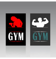 Fitness a card vector image vector image