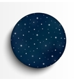 circle frame Starry night sky vector image