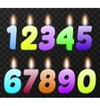 Birthday candles set vector image