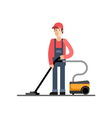 Cleaning company service Cleaner vector image