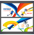 Concept of soccer player with colored geometric vector image