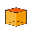 cube 3d graph design element vector image