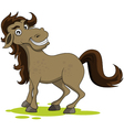 cute horse smiling vector image