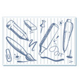 drawings of stationery vector image