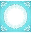 Elegand turquoise vintafe floral frame vector image