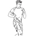 fitness man and gymnastic exercises vector image