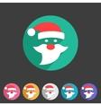 Flat Santa Claus christmas icon vector image
