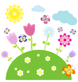 flower bed vector image