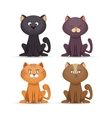 collection cat cute pet icon vector image