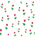 single red roses in flat vector image