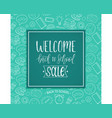 vintage welcome back to school sale poster vector image