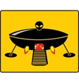 BBQ UFO Grill vector image
