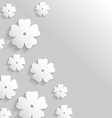 paper flower back vector image
