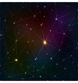 Abstract triangle grid on cosmic background vector image