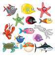 Family of funny fish vector image