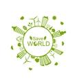 Green Futuristic World vector image