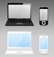 laptop and phone vector image vector image