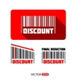 Bar code sale and discount sticker vector image