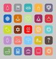 Zen society line flat icons vector image