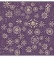 Christmas snowflake pattern Winter theme texture vector image
