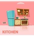 Kitchen Retro Design vector image