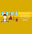 cleaning service banner horizontal concept vector image