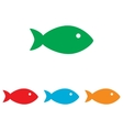 Fish sign Colorfull set vector image