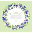 Flowers Wreath Card vector image