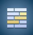 Icon of brickwork vector image
