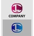 Letter L logo symbol icon vector image