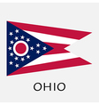 Ohio state flag of America isolated on white vector image