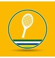 racket tennis sport badge icon vector image