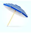 Summer beach umbrella parasol Sun protection vector image