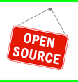 announcement sign open source vector image