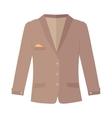 Unisex Jacket Isolated on White Autumn clothes vector image