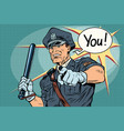 police officer cop with a baton vector image
