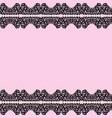 Black lace borders vector image