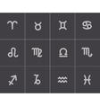 black zodiac icons set vector image vector image