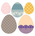 Set of lacy decorative Easter eggs vector image vector image